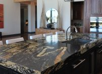 Color shown is Tao from the Silestone Zen Series.